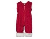 Babies & Kids - Öko-Schlafoverall Sternchen rot Schurwollplüsch, Größe:100 cm (3-4 Jahre)