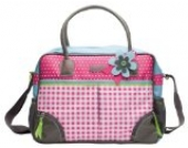 bébé-jou 310044 Wickeltasche 40 x 30 cm, pink, rosa und blau