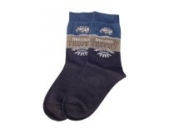 Weri Spezials Kinder Socken, Mexico Travel Motiv in Jeans, Hochwertige merc. Baumwolle, Gr.31-34 (7-8 Jahre)