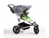 Sonnenschutz Sonnendach Sonnensegel Sonnenverdeck Sonnette® single UPF 80+ für Kinderwagen Kalan grey
