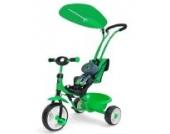 NEU Tricycle BOBY Delux NEU Kinderdreirad DREIRAD GRÜN mit Klingel + Sonnenschutzdach