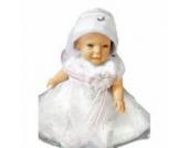 Sommer Taufkleid sommerliches Kleid Taufkleider Baby Babies für Taufe Hochzeit Feste, Größe 80 86 Y11A