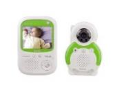 Hama Babyphone mit Kamera BM150 (Reichweite 300 m, Gegensprechfunktion, 5 Schlaflieder, Nachtlichtfunktion) weiß/grün