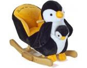 Knorr-Baby Schaukeltier Pinguin Peter mit Handpuppe (Schwarz-Weiß) [Kinderspielzeug]