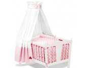 Pinolino Textile Ausstattung für Wiegen 4-tlg. Glückspilz - rosa