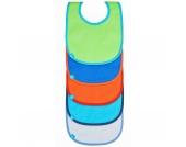 Lätzchen solid color, mit Klettverschluss, 5er Set