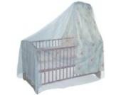 BABY-PLUS Insektennetz Kinderbett mit Himmel, weiß