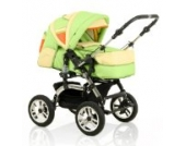 15 teiliges Qualitäts-Kinderwagenset 2 in 1 CITY DRIVER: Kinderwagen + Buggy - all inclusive Paket in Farbe SCHWARZ-PINK
