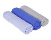 Lässig 3er Set Swaddle & Burp Blanket Puckdecke/Spuckdecke 100% Baumwolle Mulltuch weich kuschelig 85 x 85 cm, Bedtime Candy boys