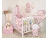 10tlg. Babybettwäsche Set, sort, 135x100cm Design 7