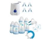 MAM Set 4 - Startset - Flaschen Sauger Flaschen- & Babykoster - Blau plus gratis Geschenk